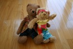 Bearz & Fluffy in their spring outfits