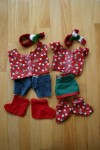 Holiday outfits for Bearz & Fluffy